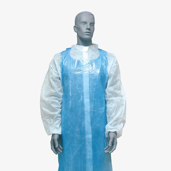 Delantal Polietileno Blanco o Azul. REF.EWA-DB01