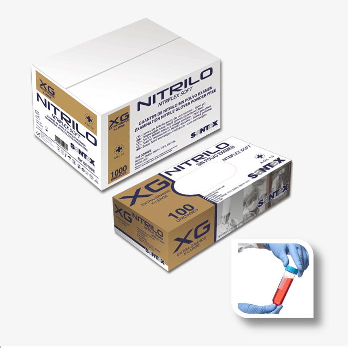 Powder Free Blue Nitrile</br>NITRIFLEX SOFT</br>Ref. GD19