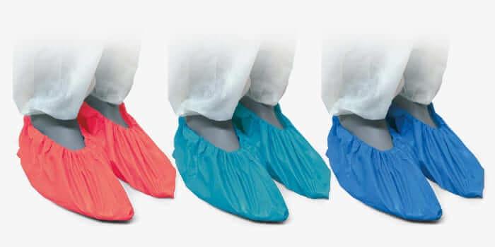 Cobre sapatos de Polietileno Azul. REF.DF01BB