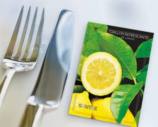 Toallitas perfumadas de limón
