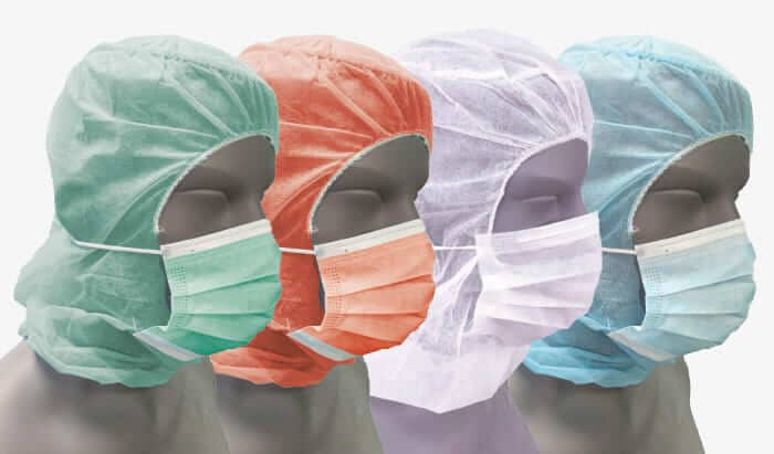 casquettes entiers masques