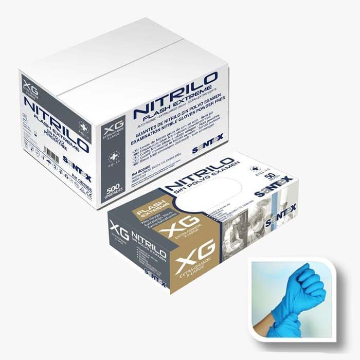guantes de nitrilo azul flash extreme